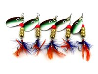5PCS wholesale New 6. 3cm 5. 7g spinner bait fishing lure spoo...