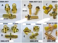 10st LOT SMA-KFD KKD 18mm 20mm 23mm 24mm PIN RF Antennadapter Elbow Horisontell kontakt Manlig Kvinna Jacks Transit