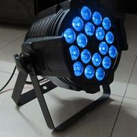 Par64 18x18w Luz LED RGBWA + UV 6in1 DMX512 LED Par Latas