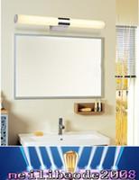 Nouvelle Arrivée Haute Qualité 60cm 80cm Brève Tube En Acier Inoxydable LED Chaud Blanc / Blanc Mur Lumière Salle De Bains Miroir Lampe 110-240V AC MYY