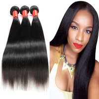 Indian Peruvian Malaysian Cambodian Virgin Hair straight Bun...