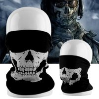 Anti-Dust Tubular Skull Ghosts Máscara Fantasma Bandana Moto bike Sport Half Face Magic Scarf Cuello Calentador Invierno Halloween para Bicicleta de la Motocicleta