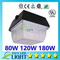 CE DLC UL + Super Bright АЗС Светодиодные фонари 80W 120W 180W AC 100-277V Светодиодные прожекторы Холодный белый светодиодный светильник 3333