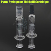 1ML Luer Lock Pyrex Syringe Glass tip head injector for thic...