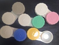 5000pcs / lot fahion Lenti a contatto custodia kit mate doppia lente semplice