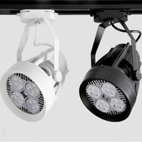 35W PAR30 ventilateur d'éclairage de piste de refroidissement E27 110V 220V lampe de piste pour magasin de vêtements hall d'exposition 10pcs