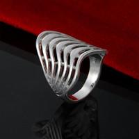 Новое прибытие цена по прейскуранту завода-изготовителя 925 стерлингового серебра волна 7 провод кольцо мода стерлингового серебра кольцо Рождественский подарок