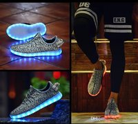2016 hot LED Shoes light colorful Flashing Shoes USB Charge ...
