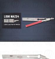 Vente chaude outils de serrurier freeshipping haute qualité véritable lishi lockpick MAZ24 verrouillage de la voiture pick set auto serrurier outil