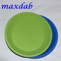 Vassoio in silicone in silicone rotondo in silicone FDA 100% FDA, vassoio in silicone, deposito di contenitore di cera antiaderente per concentrato olio BHO
