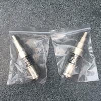6 в 1 Domeless Titanium ногтя GR2 ногти совместных 10 мм 14 мм и 18 мм стекло бонг водопровод стеклянная труба для g9 enail dnail