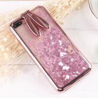 Cute Cartoon Bunny Ears Rabbit Bling Diamond Ear Sand Case F...