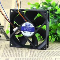 Подлинная AVC 80 * 80 * 25 8см DS08025T12HP028 0.30A 4 провода контроля температуры шарика вентилятор немой
