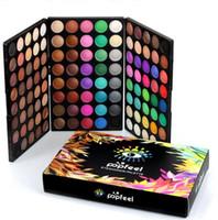 Os recém-chegados popfeel beleza 120 cores paleta da sombra da composição da paleta da sombra dos olhos cosméticos em pó cosméticos nude paleta
