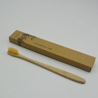New Personalized Bamboo Toothbrushes Tongue Cleaner Denture ...