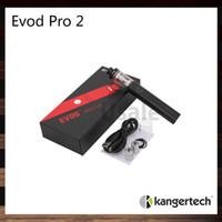 Kanger Evod Pro 2 스타터 키트 모두 한 디자인 4ml 용량 및 2500mah 배터리 내장 슬라이딩 대칭 공기 흐름 밸브 100 % 오리지널