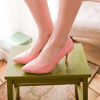 Pompes chaussures femme en cuir verni 31 32 33 40 41 42 43 44 45 talon haut 8cm EUR Taille 30-46