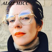 ALOZ MICC New Irregular Sunglasses Fashion Women Oversized R...