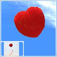 Novo 3D 170 cm em forma de tubo parafoil papagaio do coração / crianças