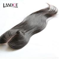 البرازيلي مستقيم الدانتيل إغلاق الحرة الأوسط 3 الجزء إغلاق الشعر البشري البرازيلي مستقيم عذراء الشعر أعلى الدانتيل إغلاق 4x4 الطبيعية السوداء