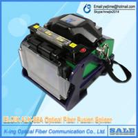 Portable Digital Optic Fiber Fusion Splicer Maschine ALK88A mit Optical Fiber Cleaver / Fiber Stripper Multi Sprache
