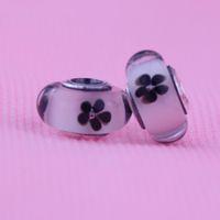 100% Аутентичные 925 стерлингового серебра DIY темы муранского стекла бисер Подвески Приступы для Пандора браслеты ожерелья Оптовая 1шт / много 2016 новейший