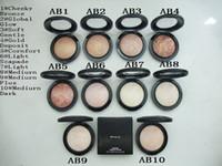 الشحن مجانا! 1PCS جديد ماكياج المعدنية تمعدن Skinfinish Powdre دي Finition الوجه مسحوق 10G ، 10 لون تختار