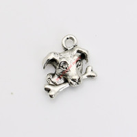 20 adet Antik Gümüş Kaplama Köpek Kemik Charms Kolye Kolye Takı Yapımı için DIY El Yapımı Zanaat 15x16mm