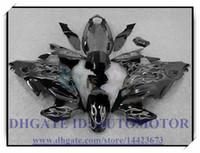 100% nuovissimo kit carena di alta qualità adatto per Suzuki GSX600F / 750F 1997-2005 GSX 600F GSX750F 1998 1999 2000 2001 # SK844 NERO FIAMMA