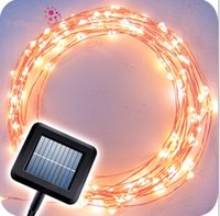 Solar copper wire Fairy String Patio Lights 50ft 100 LED wat...