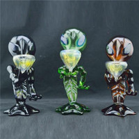 "Colored Alien Glass Smoking Pipes 8"" inch Oil Burner Pi..."