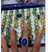 Moda hight calidad Grandes anillos ovales de humor cambian anillo de color Anillo de apertura de moda femenina 100 unids / lote