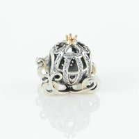 Pumpkin charms beads 925 sterling silver fits DIY bracelet a...