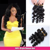 8A Loose Wave Hair Weave Branzilian Human Hair Natural Color...