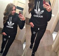 New Women Sport Suits Printed Fall Tracksuits Long- sleeve Ca...