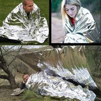 210 * 130 cm Açık Spor Dağcı Yaşam Tasarrufu Askeri Acil Durum Battaniye Survival Kurtarma Yalıtım Perde Battaniye Gümüş Sıcak Satış 2501040