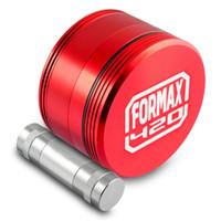 Formax420 2,5 Zoll Matrix Herb Grinder 4 Stück Gewürzmühle mit Pollen Presser Scraper Kostenloser Versand