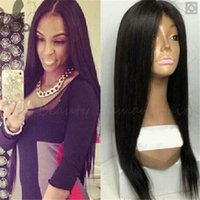 Brazilian Human Hair Lace Front Wigs Silky Straight Glueless...