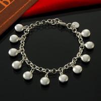 Фабрика прямые оптовые 925 Sterling Silver многоквартирные бобы браслет серебро ювелирные изделия
