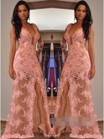 New Sexy Scoop Neck Mermaid Long Evening Dresses Appliques B...