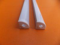 Vender Popular bom preço 1m / pcs15m / lote Frete Grátis perfil de alumínio LED com PC Tampa Gabinete Wardrobe Aluminum Faixa de LED Canal Titular