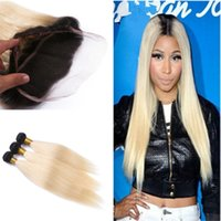 New Products #1B 613 Hair Bundles With 360 Frontal Ombre Blo...