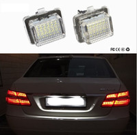 Luce targa LED per Mercedes W204 5D W212 W216 W221 C207 Benz AMG Accessori Bianco SMD Car numero di targa della lampada