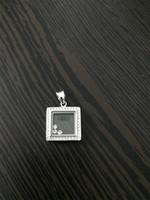 luxurybrand حقيقي 925 الفضة الاسترليني جودة عالية الكريستال تشيكوسلوفاكيا الماس قلادة قلادة للنساء سعيد مربع الماس الكلاسيكية قلادة