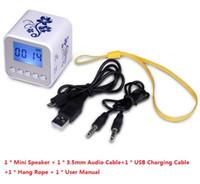 Frete Grátis Mini Portátil Nizhi TT032A Música Speaker Com USB Slot Para Cartão TF Rádio FM Disply Digital Sound Box