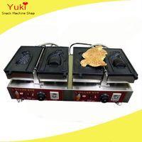Коммерческая тайяки машина большой открытый рот Корейский рыбный вафельщик мороженое вафлярное конус изготовитель тайяки PAN 110V 220V