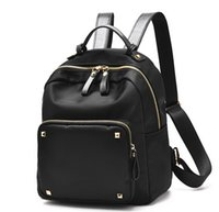 c591138648 Wholesale stylish satchel for sale - 2017 new womens rivets zippers  backpacks nylon large backpack bags