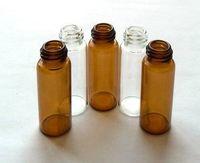 5 ملليلتر العنبر أو الزجاج الشفاف زجاجة الزيت العطري ، مع المكونات والقبعات داخل ، عينة زجاجات العطور 500 قطعة / الوحدة بواسطة dhl شحن مجاني