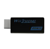 HDMI, WII 2 HDMI Dönüştürücü desteği 720 P 1080 P HD Çıkışı Yükseltme Adaptörü, siyah