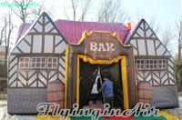 8m portátil antique ogival bar inflacionou estande de pub inflável